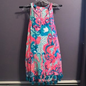 Lilly Pulitzer Roxi Dress in Coral Reef So jelly